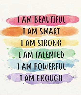Sit up straight and read all of these positive affirmations about YOU! ♥