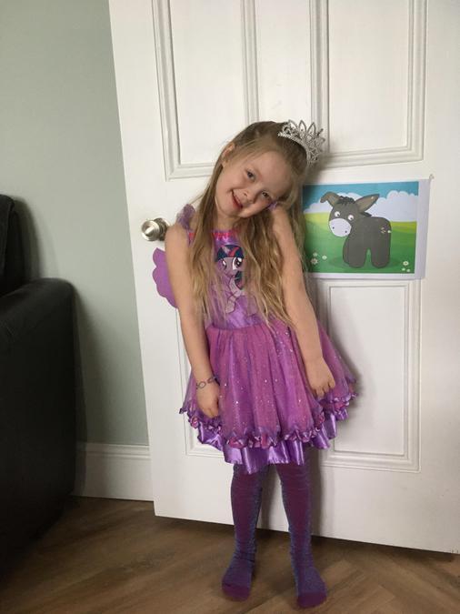 Emilie loves dressing up!