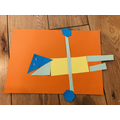 Great alien Rhion made with 2d shapes