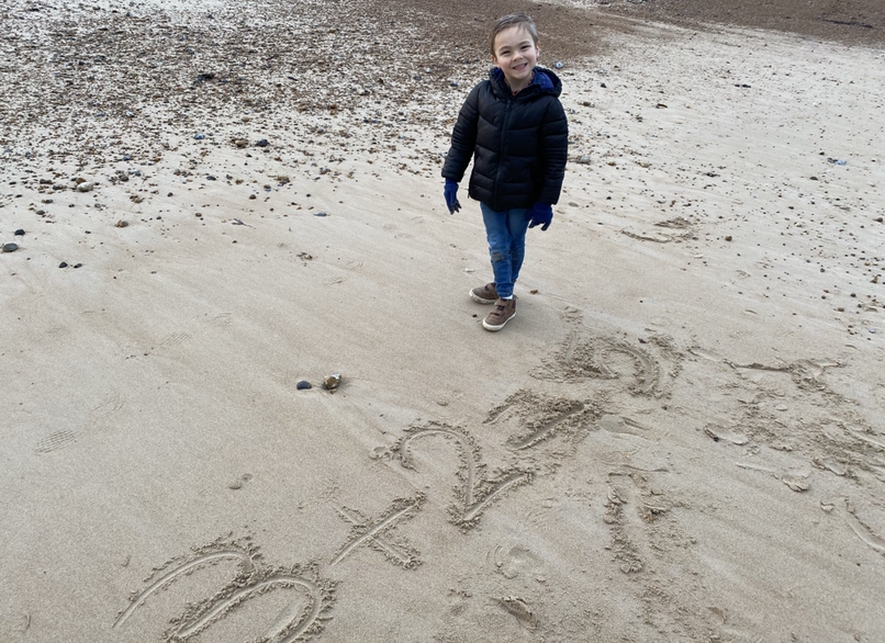 Maths on the beach.