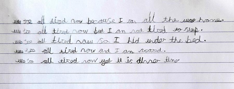 Alexander's writing