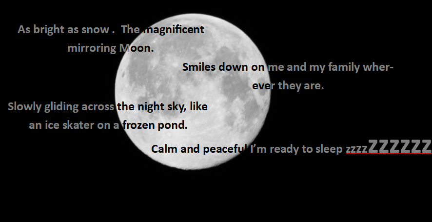 My Moon poem!