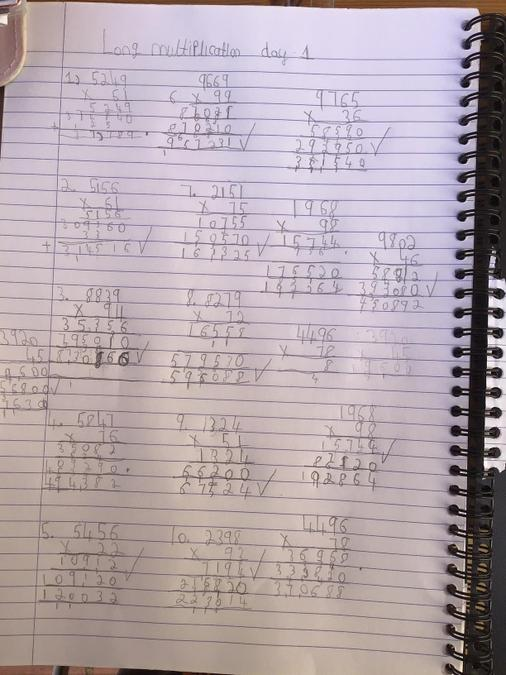 Ryan's super long multiplication