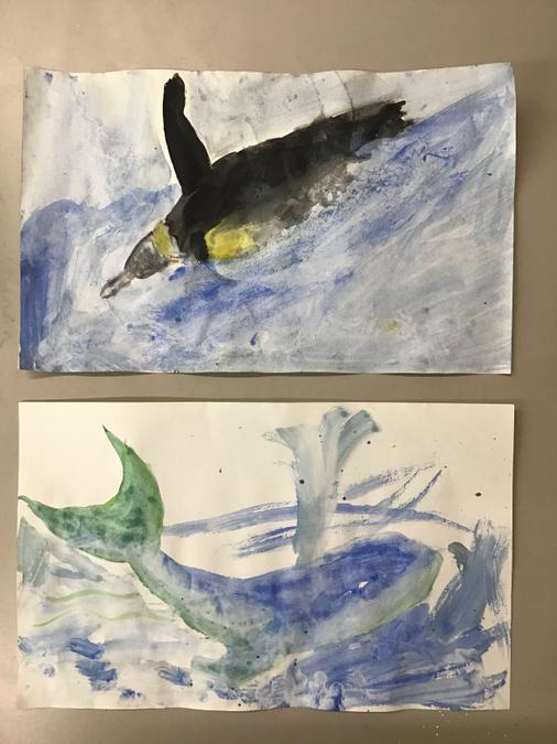 Ariana's water colored paintings