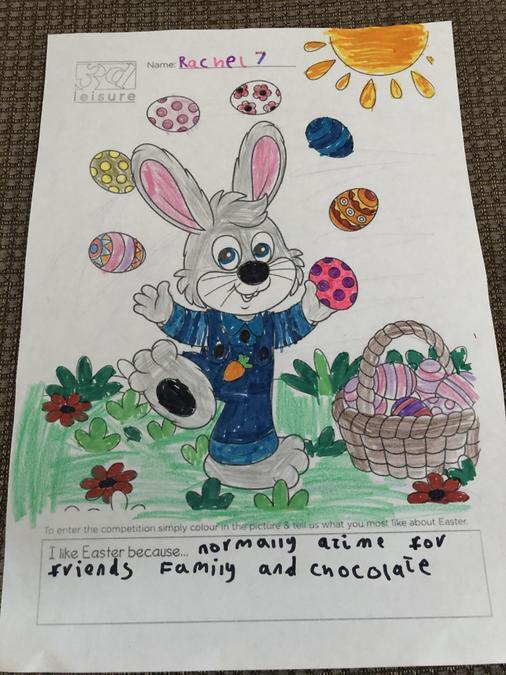 Rachel's Easter Art