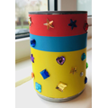 Rhion's beautiful cylinder pot he made