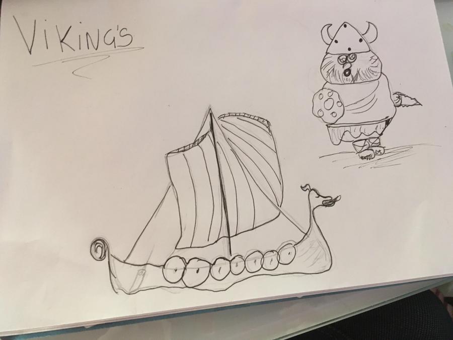 Amy's Viking longboat