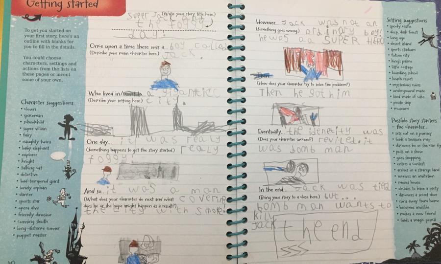...... story writing