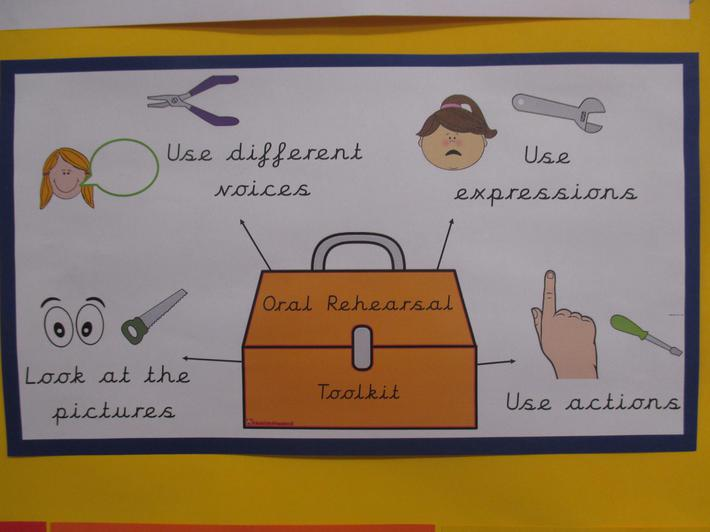 The oral rehearsal toolkit helps us to retell