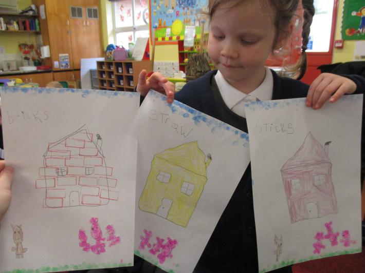 Fantastic brick, stick and straw house pictures.