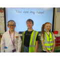 Scientists, delivery driver and guide dog!