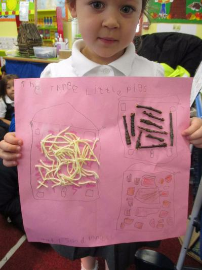 The children used a range of media.