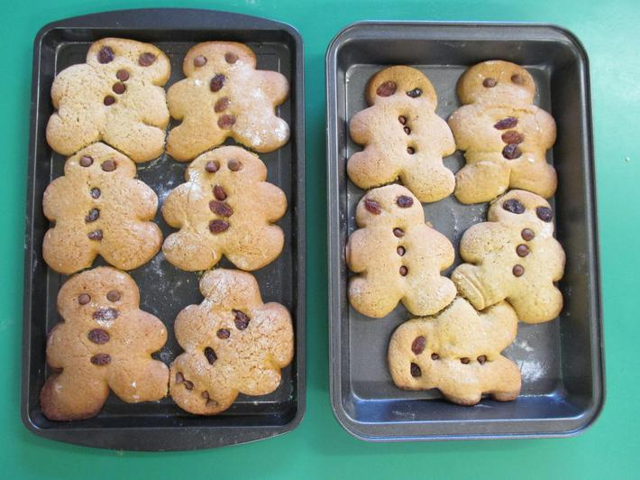 We baked them in the oven