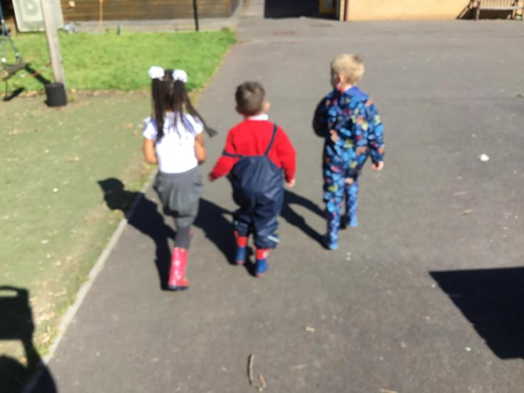 Off we go to forest school.