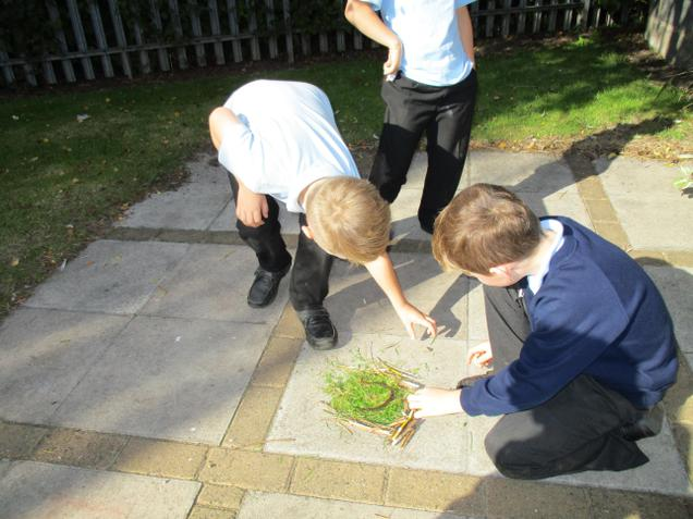 R.E work, creating Sukkot shelters in Judaism.