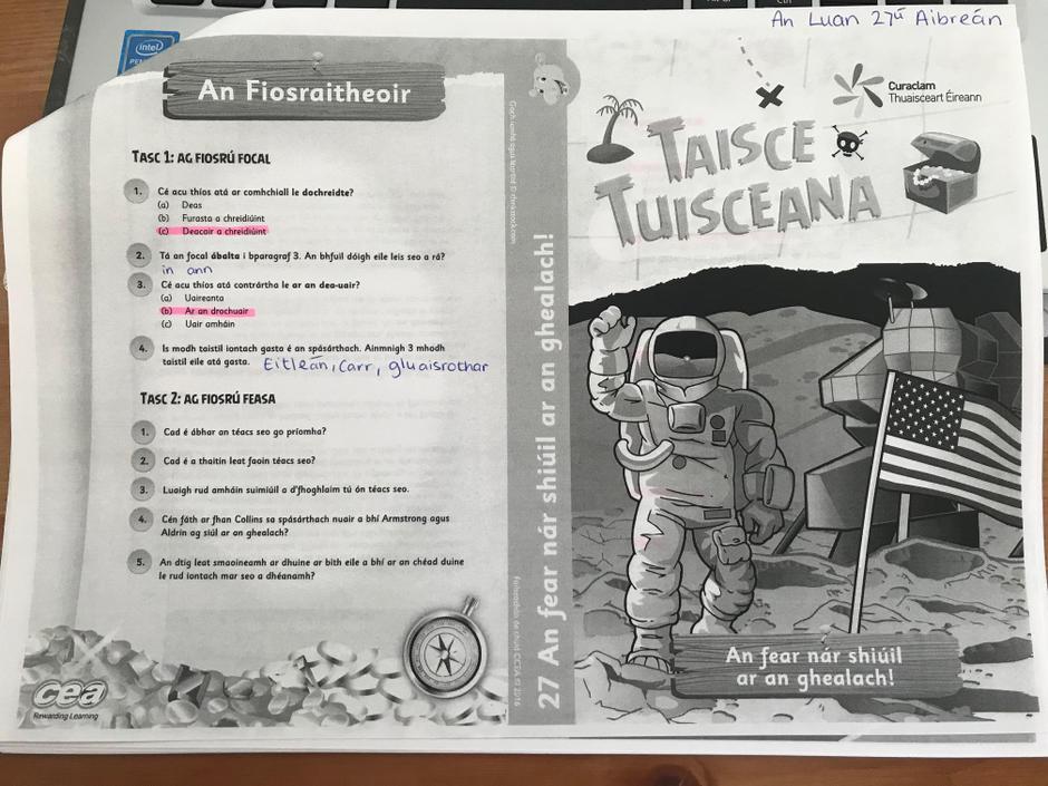Freagraí: Taisce Tusiceana G1 (1) S5