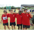 Year 4 boys relay team