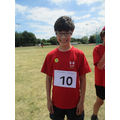 Henry came 3rd in his sprint