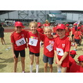 Year 5 girls relay team