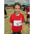 Charlotte came 1st in the 400m