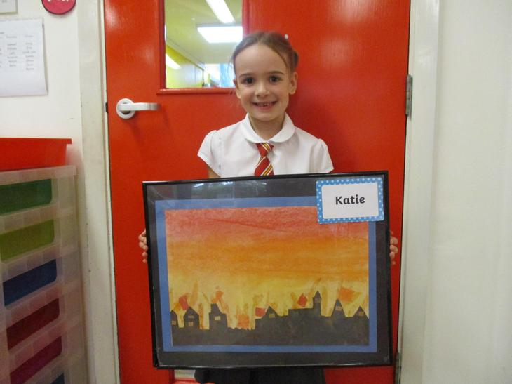 Well done Katie! Your Great Fire of London picture is amazing!!