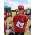 Adam came 2nd in the long jump
