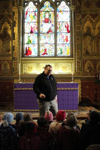 Learning about Advent in Hughenden Church