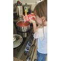 Kaitlyn Preparing a Delicious Recipe