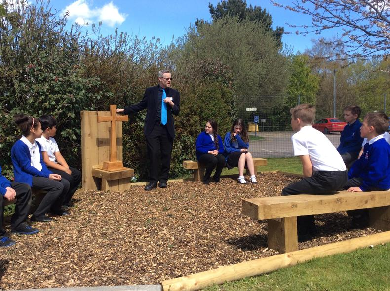 In our Spiritual Garden talking about Easter