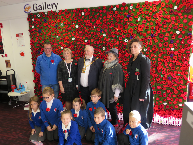 Our Poppy wall we created