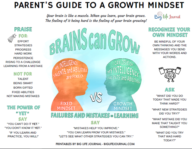 Parents guide to a Growth Mindset