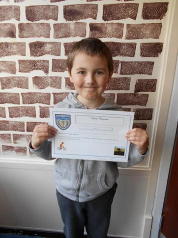 Conor Raised £410 for the school by cycling 10 miles!