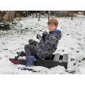 Riley on his sledge.