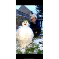 Jack with his snowman.