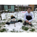 Phoebe and her Snowman