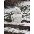 One lonely snowman.