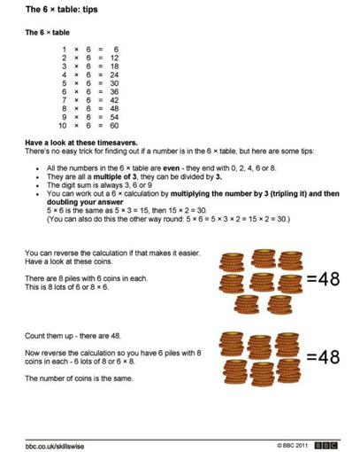 6 x table strategies