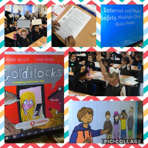 Y3 listened to a story, completed an online safety quiz and had lots of discussions!