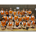 Our Year 5 and 6 athletics team,who came 5th!