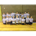Our Year 3 and 4 athletics team, who came 3rd!