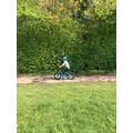 Jack has learnt how to ride his bike!