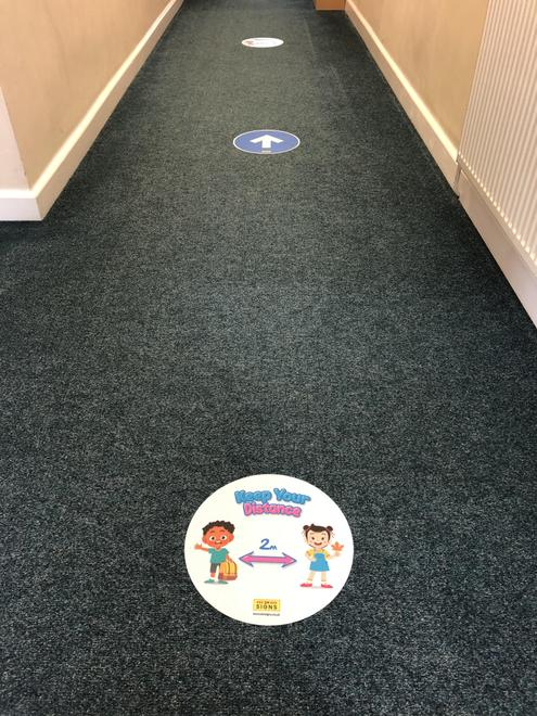 One-way system in the corridors