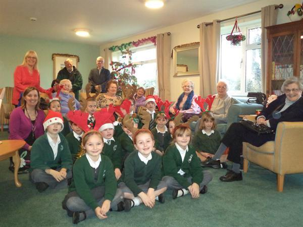Our choir entertaining residents of Housing 21