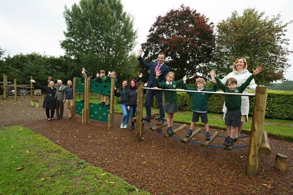 Celebrating the opening of our new trim trail.