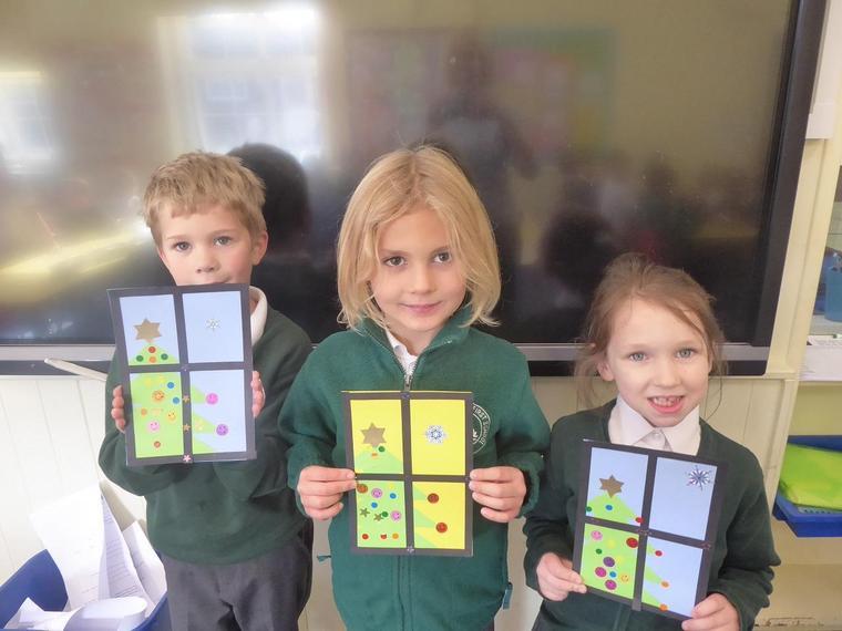 Puma Class with their Christmas card designs