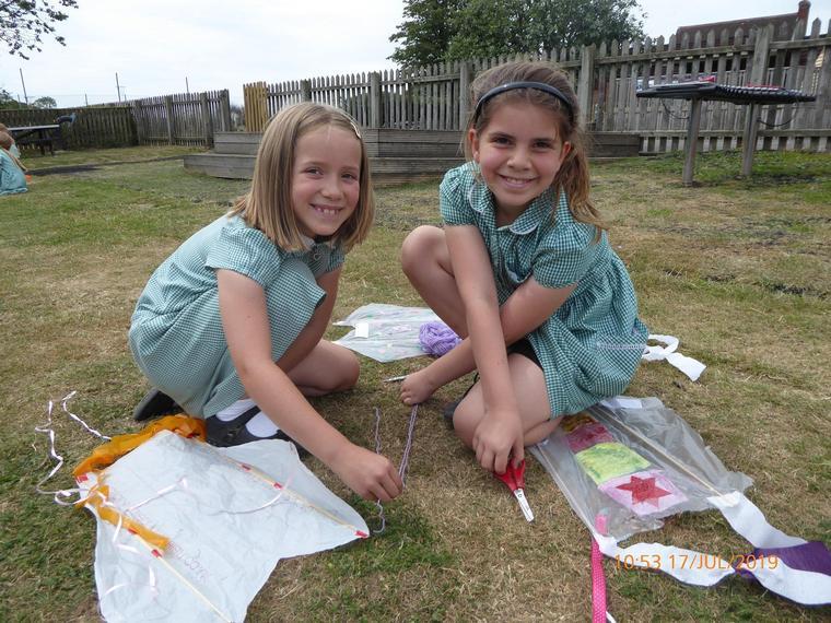 Puma Class finish their kites