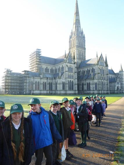 Years 4s visit Salisbury Cathedral