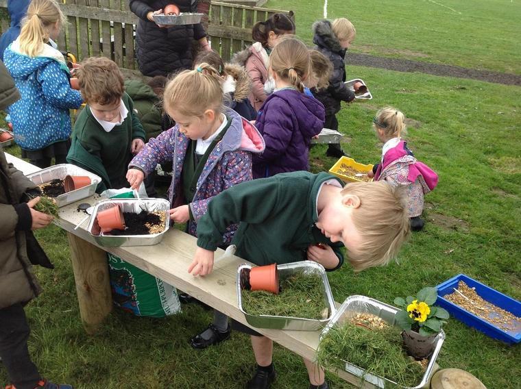 Enjoying making Easter gardens