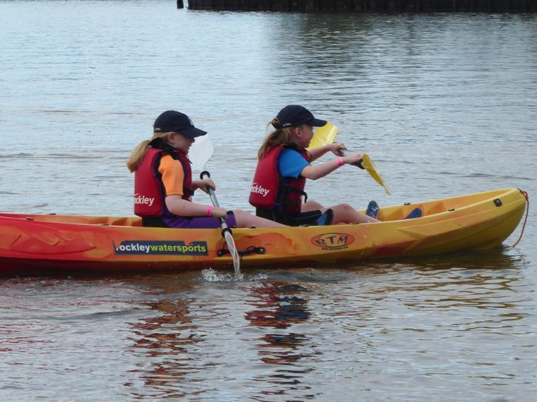 Getting to grips with the oars .....