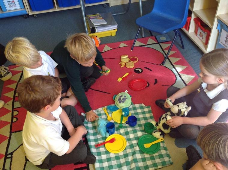 Ocelot class enjoying their play